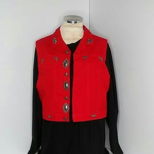 Elizabeth Collier & Co. Bright Red Vest size L